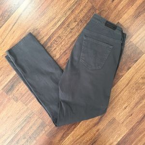 AG Adriano Goldschmied Gray Stilt Cigarette Pants
